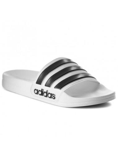 Adidas ciabatta white black